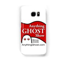 Anything Ghost Black and Red Logo Samsung Galaxy Case/Skin