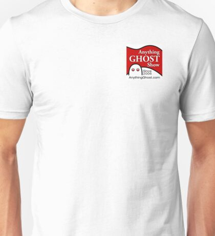 Anything Ghost Black and Red Logo Unisex T-Shirt