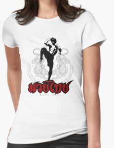 Muay Thay Boxing 4 - Thailand Martial Art  Womens Fitted T-Shirt