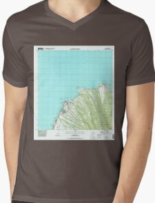 USGS TOPO Map Hawaii HI Napili 349621 1997 24000 Mens V-Neck T-Shirt
