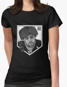 Coonskin Anze Kopitar Tee - LA Kings (two-color design) Womens Fitted T-Shirt