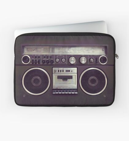 80s Retro Boombox Laptop Sleeve