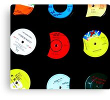 Original Retro Vinyl Records Canvas Print