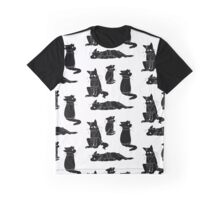 Sad Cat with a hoodie pattern Graphic T-Shirt
