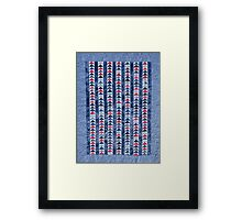 Flying Geese Quilt In Red, White And Blue Framed Print