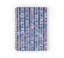 Flying Geese Quilt In Red, White And Blue Spiral Notebook