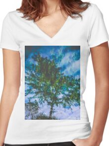 Reflecting Nature Women's Fitted V-Neck T-Shirt