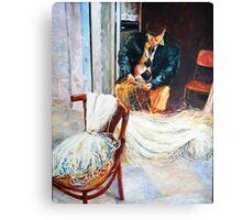 Bari Fisherman Checking his Nets Canvas Print