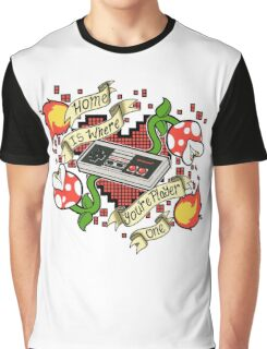 Home is Where You're Player One Graphic T-Shirt