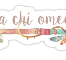 Alpha Chi Omega Arrow Sticker