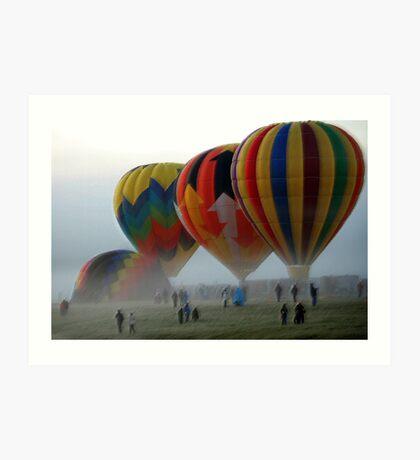 Balloons in the Mist  Art Print