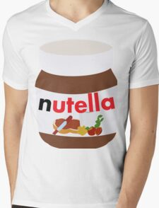 nutella Mens V-Neck T-Shirt