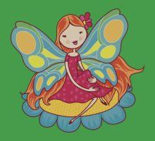 Fantasy Beautiful Fairy on Flower Baby Tee
