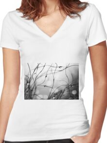 B and W and Between Women's Fitted V-Neck T-Shirt