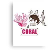 Coral - Rick Grimes Canvas Print