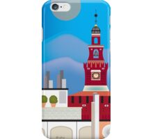 Milan, Italy - Skyline Illustration by Loose Petals iPhone Case/Skin