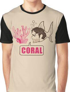Coral - Rick Grimes Graphic T-Shirt