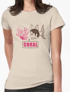 Coral - Rick Grimes Womens Fitted T-Shirt