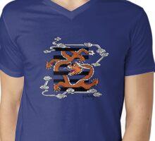 Flying dragon in the sky Mens V-Neck T-Shirt