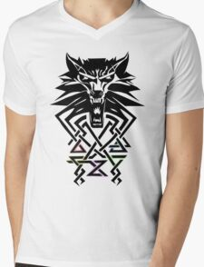 The Witcher - Big Witcher Medallion Mens V-Neck T-Shirt