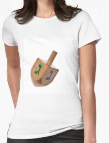 Hanukkah Dreidel Symbol Isolated Womens Fitted T-Shirt