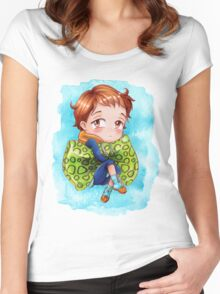 Seven Deadly Sins Anime - KING chibi 2 Women's Fitted Scoop T-Shirt