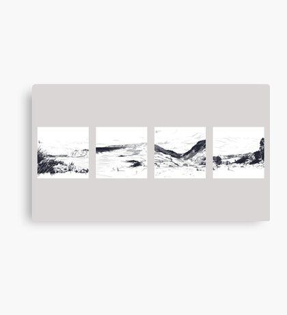 Landscape Sketches Canvas Print