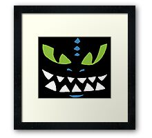 Toothless From How To Train Your Dragon Design Framed Print