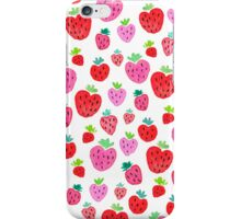 Strawberries on White iPhone Case/Skin