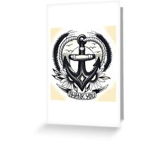 Anchor thank you card Greeting Card