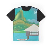 Tahiti - Skyline Illustration by Loose Petals Graphic T-Shirt