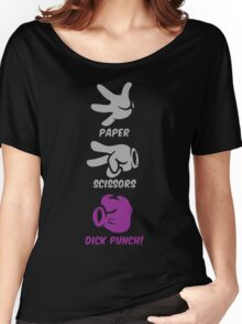 Paper Scissors Dick Punch Women's Relaxed Fit T-Shirt