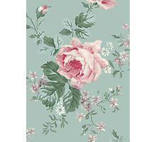 French Chic Vintage Roses Photographic Print