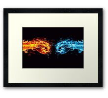 Fire water fist Framed Print