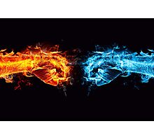 Fire water fist Photographic Print