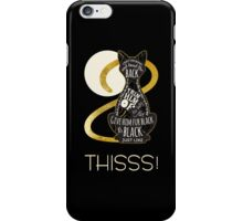 Hocus Pocus Cat Spell - Just. Like. This! iPhone Case/Skin