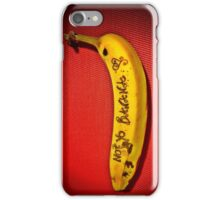 NOT YO BANANA iPhone Case/Skin