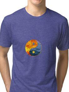 Fire Water Ying Yang Tri-blend T-Shirt