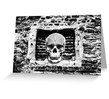 Skull In The Wall Greeting Card