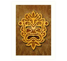 Stylish Stone Mayan Mask Art Print