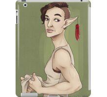 This lady has nice guns iPad Case/Skin
