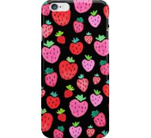 Strawberries on Black iPhone Case/Skin
