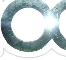 the 100 logo Sticker