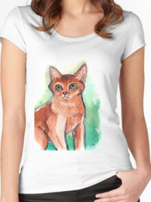 Abyssinian Cat Women's Fitted Scoop T-Shirt