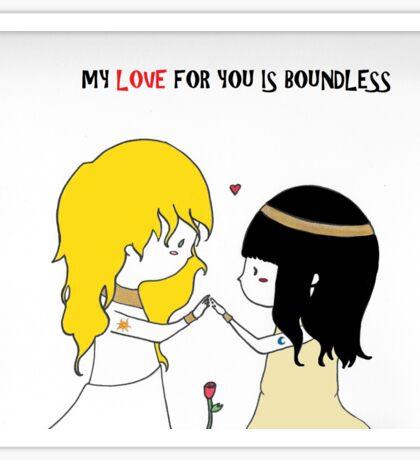 Love is Boundless Sticker