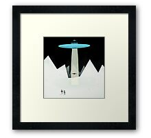 KIDNAPPED BY ALIENS Framed Print