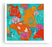 Japanese Koi Carp Fish - Square 1 Canvas Print
