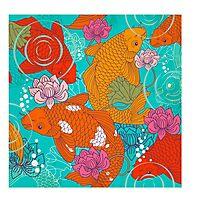 Japanese Koi Carp Fish - Square 1 Photographic Print