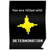 UNDERTALE - DETERMINATION T-SHIRT (SAVE POINT) Poster