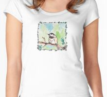 Black-Capped Chickadee Women's Fitted Scoop T-Shirt